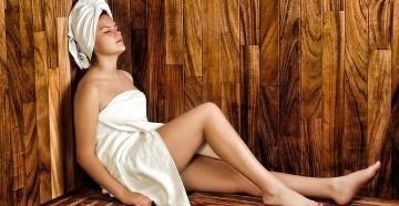 Девушка на девичнике в бане
