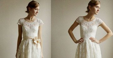 Свадебный наряд с прямой юбкой