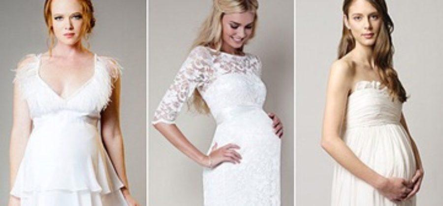 Подходящие свадебные платья для беременных: полная информация по выбору на всех сроках