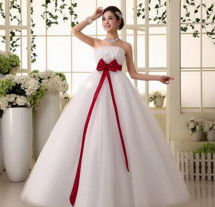 пышный свадебный наряд