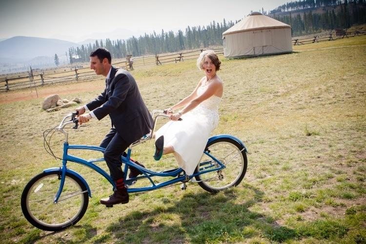 Свадебный двухместный велосипед