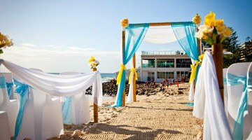 Красивая морская свадьба