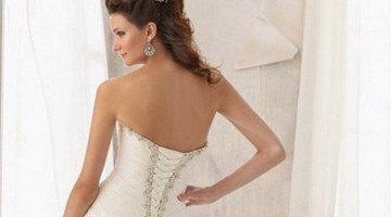 шнуровка свадебного платья