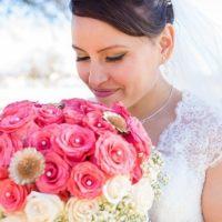 Красивый свадебный букет из гортензии – лучшее украшение невесты