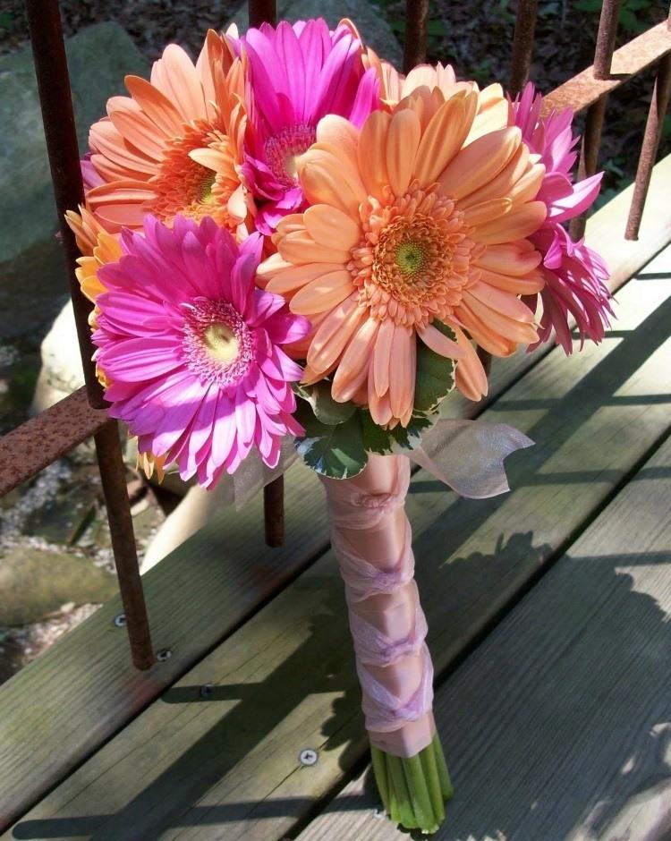сочетание розового и светло оранжевого