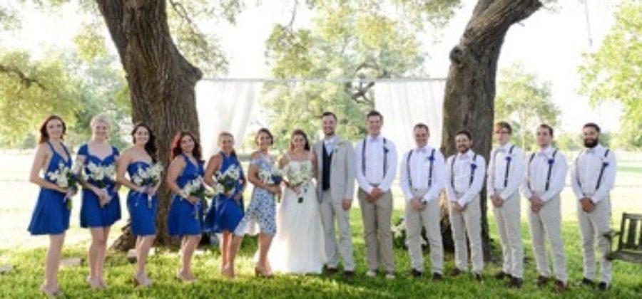 Стильное оформление свадьбы в бело-синем цвете: шаг за шагом