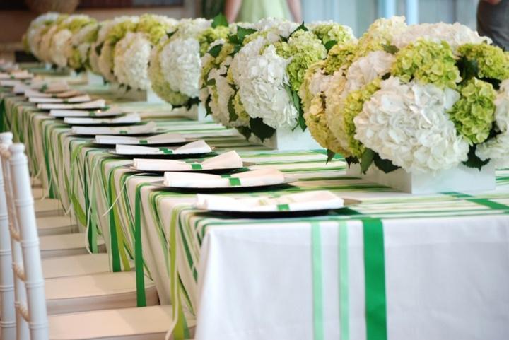 Сервировка столов на свадьбу