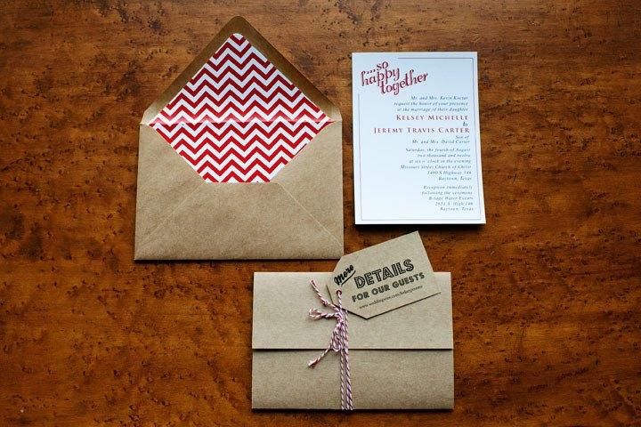 Пригласительные в виде конверта