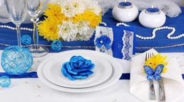 Свадьба в сине-желтом стиле