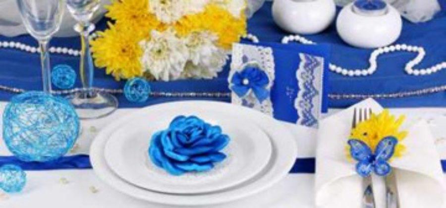 Необычная сине-желтая свадьба – как следовать в оформлении всем трендам