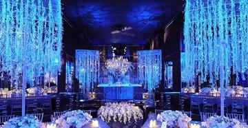 Синий цвет для оформления торжества
