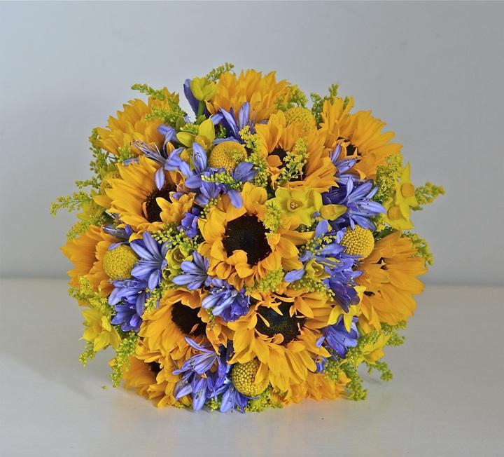 Желто-синий букет