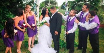 Фиолетовый стиль бракосочетания