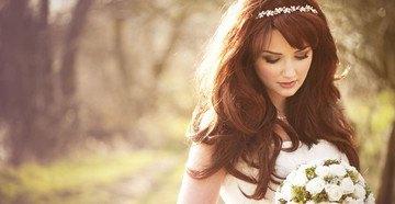 Образ невесты с диадемой