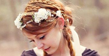 Красивые укладки с накладными прядями для невесты
