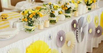 Оформляем торжество в желтом цвете