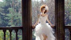 Платье каскадом