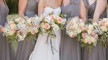 Яркая свадебная композиция