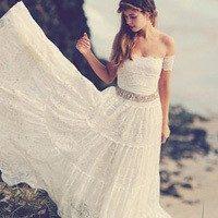 Создаем свадебный образ невесты в стиле «бохо»: выбор платья