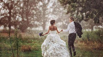 Дождь не помеха для свадьбы