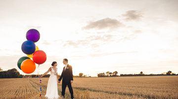 Оригинальные аксессуары для свадебного фотосета