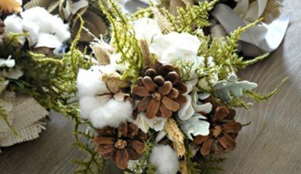 Зимний букет невесты: из чего составить и как украсить